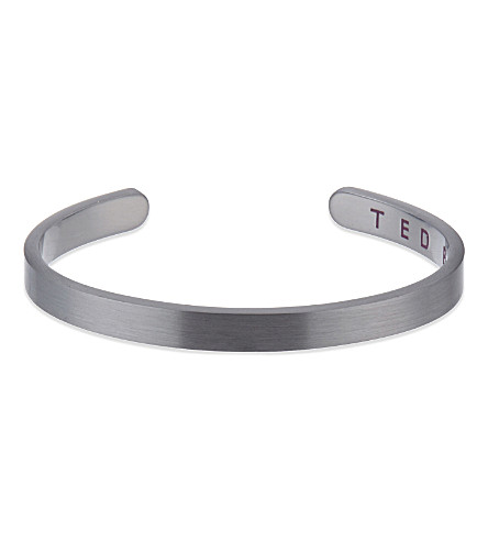 TED BAKER Brushed metallic cuff (Gunmetal