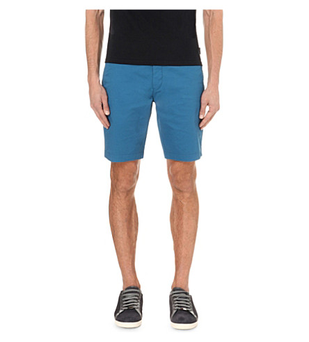 TED BAKER Regular-fit chino shorts (Bright+blue