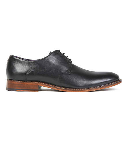 TED BAKER Classic leather derby shoes (Black
