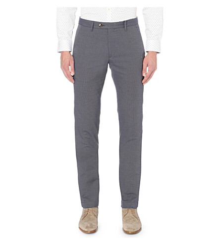 TED BAKER Regular-fit tapered cotton trousers (Blue