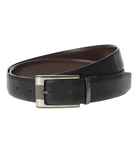TED BAKER Reversible leather belt (Black