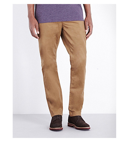 TED BAKER Canny stretch-cotton chinos (Dark+tan