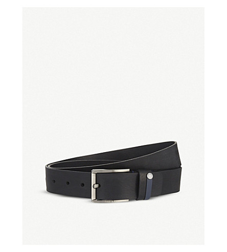 TED BAKER Keepsak leather belt (Black