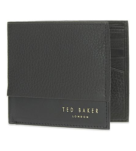 TED BAKER 混合皮革钱夹 (黑色