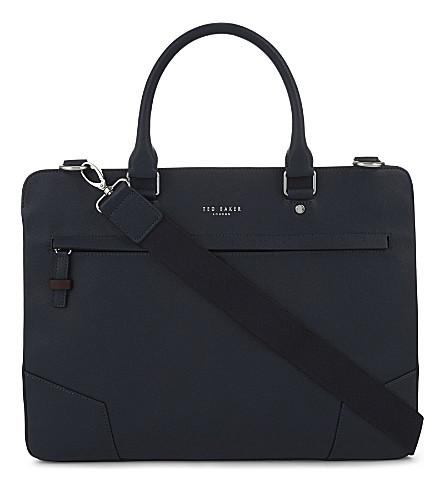 TED BAKER Target cross grain briefcase (Navy