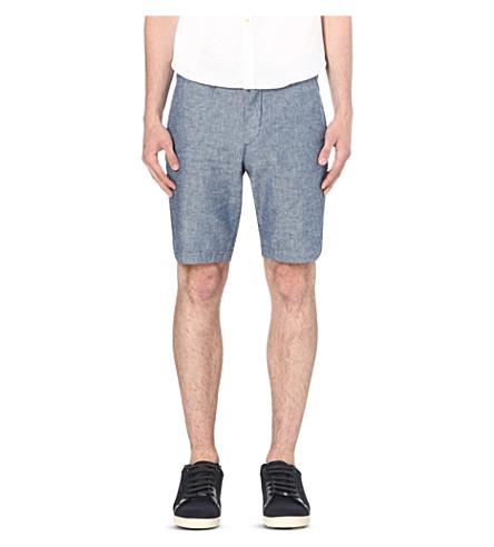TED BAKER Linsho linen-blend chino shorts (Blue