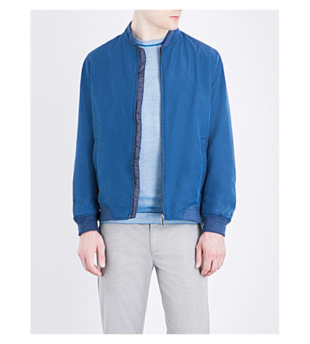 TED BAKER Nufibre shell bomber jacket (Blue
