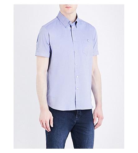 TED BAKER Wooey regular-fit stretch-cotton shirt (Blue