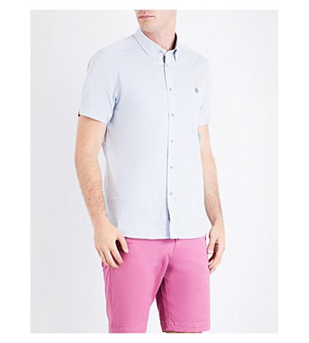 TED BAKER Munkee 钻石印花常规版型衬衫 (淡 + 蓝)