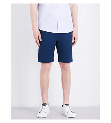 TED BAKER 常规版型配合中腰弹力棉短裤 (深蓝色