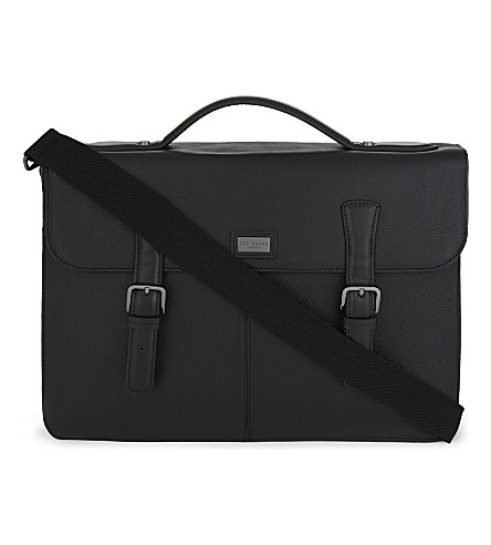 TED BAKER Bengal leather satchel (Black