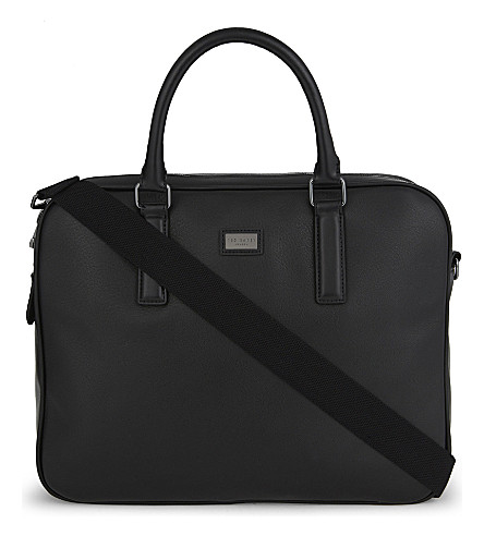 TED BAKER Caracal leather briefcase (Black