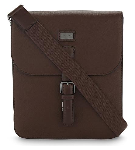 TED BAKER Jagura leather messenger bag (Tan