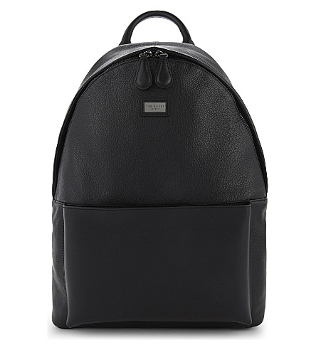 TED BAKER Panther leather backpack (Black