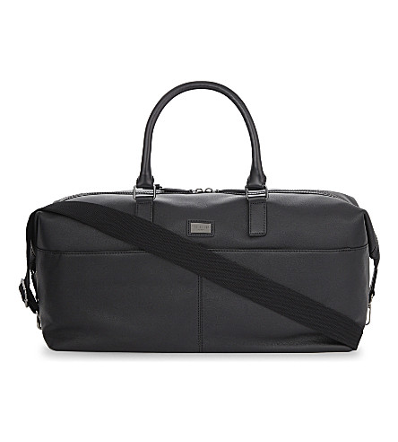 TED BAKER Tiger leather holdall (Black