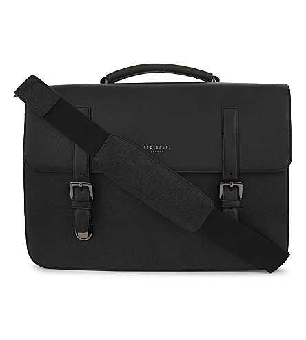 TED BAKER Lansky faux-leather satchel (Black