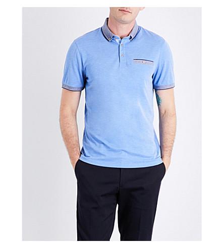 TED BAKER Shapiro jersey polo shirt (Blue