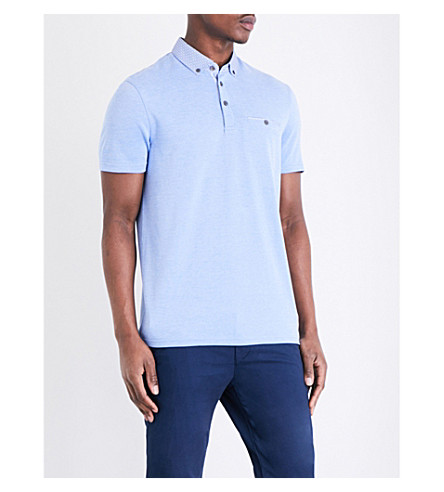 TED BAKER Super piqué polo shirt (Blue