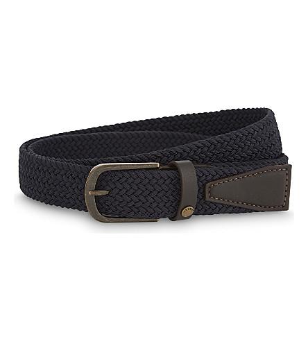 TED BAKER Leonard woven elasticated belt (Navy