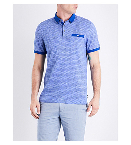 TED BAKER Collin jersey polo shirt (Dark+blue