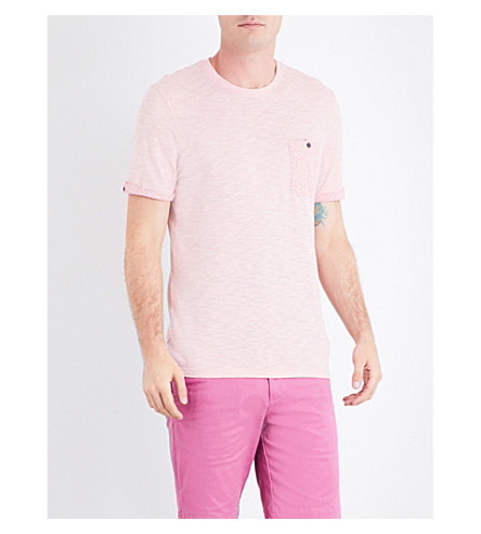 TED BAKER Apel cotton-blend T-shirt (Coral