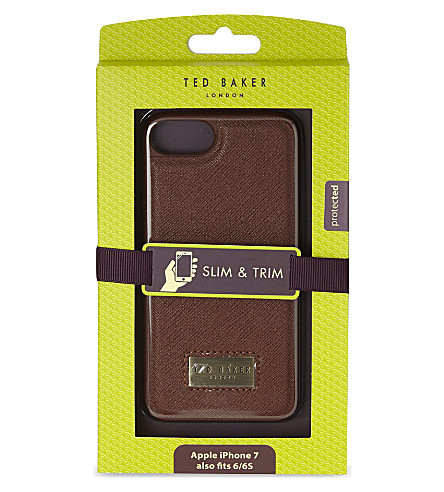TED BAKER Haliday faux-leather iPhone 6/6S/7 case (Tan