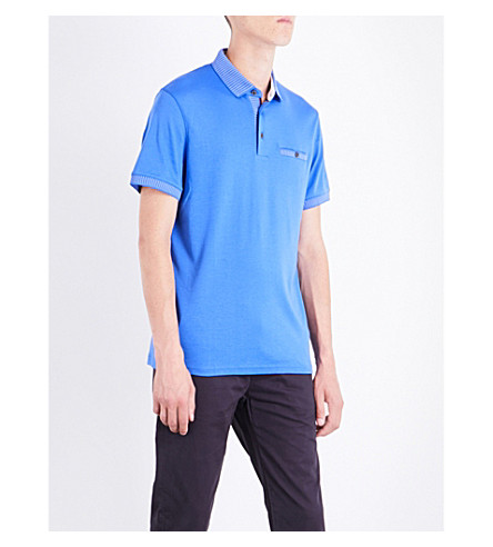 TED BAKER Rickee cotton polo shirt (Blue
