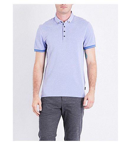 TED BAKER Branin jersey polo shirt (Blue