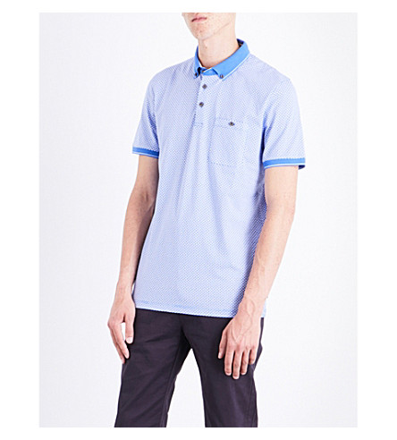 TED BAKER Enders cotton polo shirt (Blue