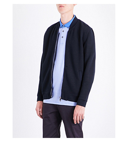 TED BAKER Bruno quilted jersey bomber jacket (Navy