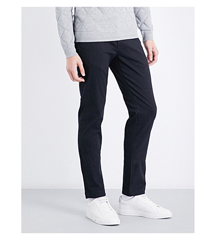 TED BAKER Texpant slim-fit cotton-blend trousers (Charcoal