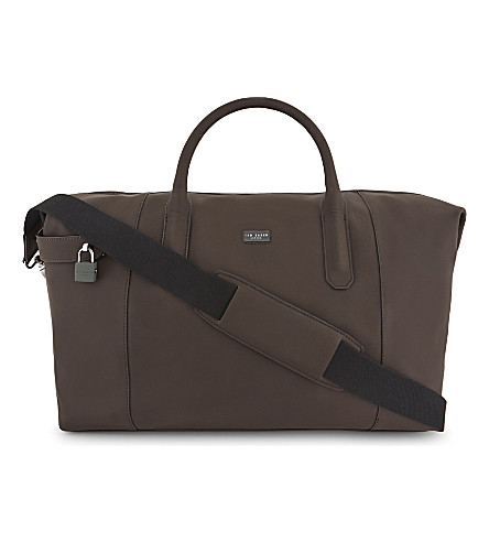 TED BAKER Leather holdall (Brown