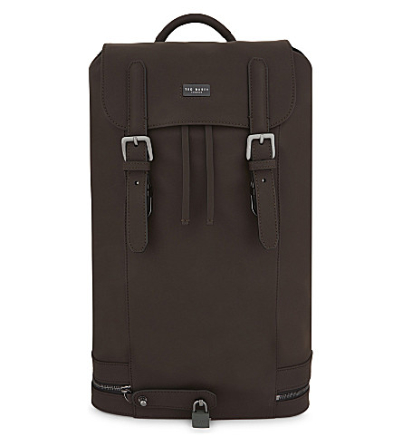 TED BAKER SADSAC leather backpack (Brown