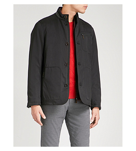 TED BAKER Detachable-panel padded jacket (Black