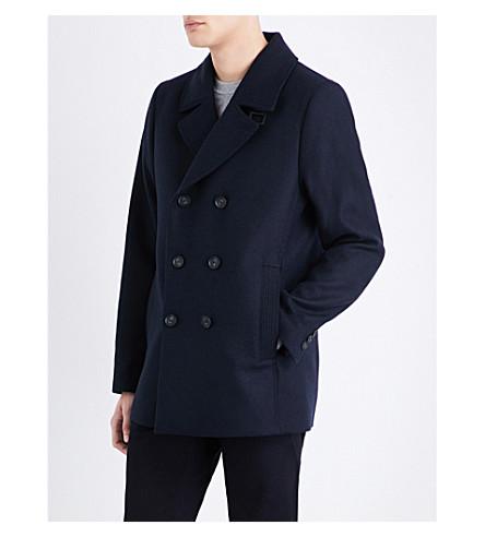 azul Abrigo de marino BAKER mezcla TED en cruzado lana 4T5wv0