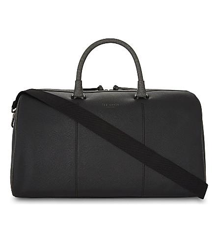 TED BAKER Panthea cross-grain leather holdall (Black