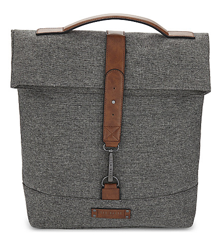 TED BAKER Germyn roll down backpack (Grey
