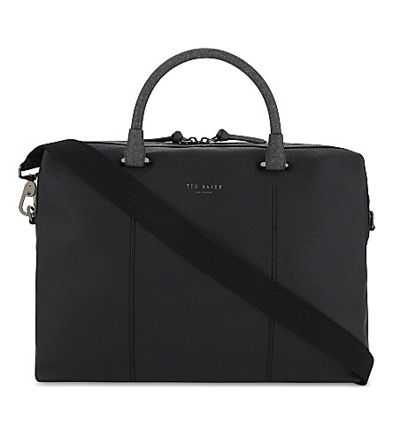 TED BAKER POUNCE faux-leather document bag (Black