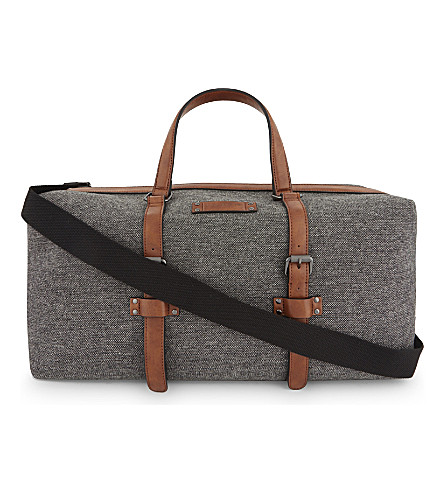 TED BAKER Tailor wool holdall bag (Grey