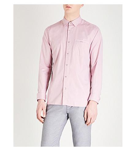TED BAKER Ifel regular-fit cotton shirt (Light+pink