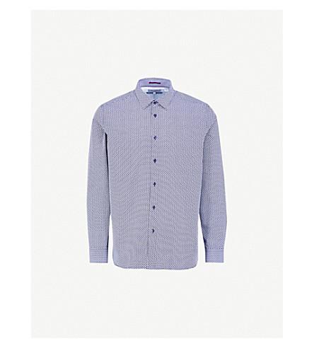 TED BAKER Kolma regular-fit cotton shirt (Navy