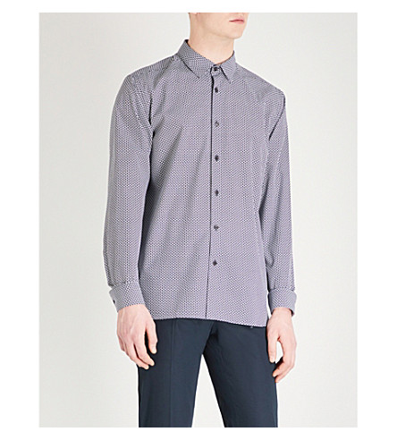 TED BAKER Kolma regular-fit cotton shirt (Navy