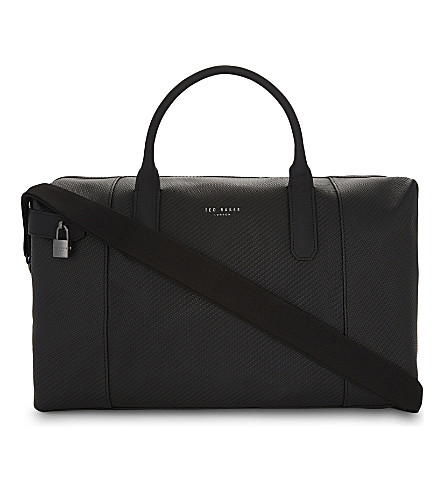 TED BAKER Novana large woven leather holdall Black Classic Cheap Online 6HUa0eaNw