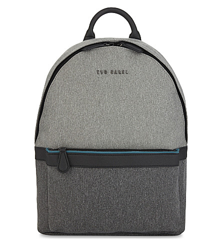 TED BAKER Zirabi two-tone nylon backpack (Grey