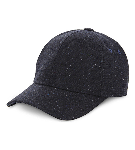 TED BAKER Wool textured baseball cap (Navy