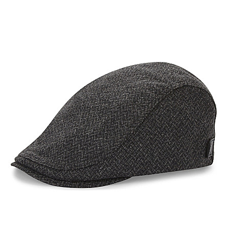 TED BAKER Wool flat cap (Charcoal