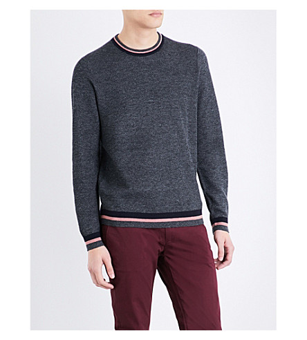 TED BAKER Textured knitted jumper (Black