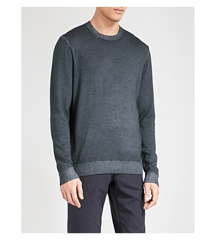 TED BAKER Abelone faded wool jumper (Charcoal