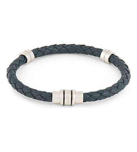 TED BAKER Barranz leather bracelet (Navy