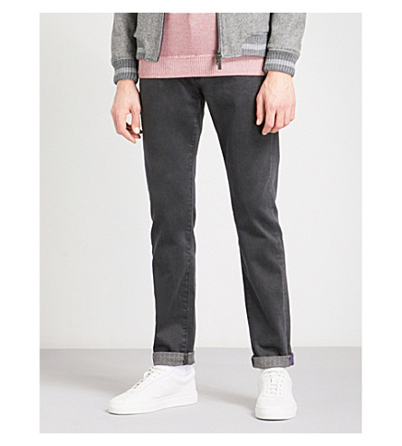 TED BAKER Simplez regular-fit straight jeans (Grey